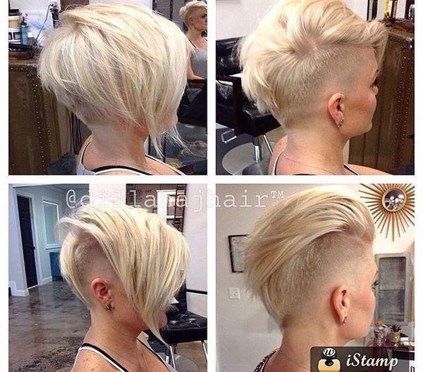 Coupe De Cheveux Courte Originale Femme Idee Coiffure Soiree